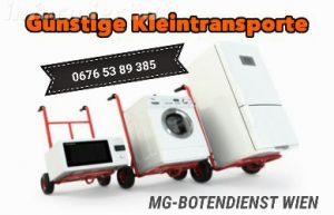 Günstiger Kleintransport von Elektrogeräten